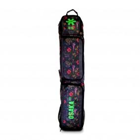 Schlägertaschen - Hockey Taschen -  kopen - Osaka SP MEDIUM Schlägertasche – Grau Blumen / GRÜN