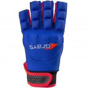 Schutz - Hockeyhandschuhe -  kopen - Grays Anatomic Pro Handschuh links Navy/Rot