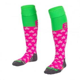 Hockeysocken - Hockey Kleidung -  kopen - Reece Numbaa Special Socken Neon Pink/Neon Grün