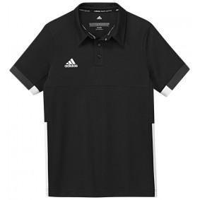 Hockey T-Shirts - Hockey Kleidung -  kopen - Adidas T16 Team Poloshirt Jugend Jungen Schwarz