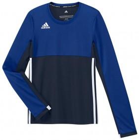 Hockey T-Shirts - Hockey Kleidung -  kopen - Adidas T16 Climacool lang Ärmel Tee Jugend Mädchen Navy