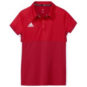 Hockey T-Shirts - Hockey Kleidung -  kopen - Adidas T16 Climacool Poloshirt Jugend Mädchen Rot