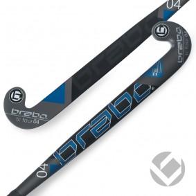 Hallenhockey-Schläger - Junior Hockeyschläger - Hockeyschläger - Brabo -  kopen - Brabo IT TC-4 Weiß / Blau Junior Hallen Hockeyschläger