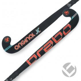 """Junior Hockeyschläger - Hockeyschläger - Brabo -  kopen - Brabo O'Geez Original Schwarz / Orange / Blau 24""""-26"""""""