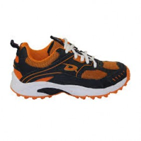 Junior Hockeyschuhe - Kunstrasenschuhe - Hockeyschuhe - Dita Hockeyschuhe - Hockeyschläger Outlet -  kopen - Dita Max Junior Navy/Orange (AKTION)