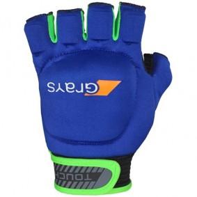Schutz - Hockeyhandschuhe -  kopen - Grays Touch Handschuh links Blau/Dunkelgrün