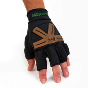 Schutz - Hockeyhandschuhe -  kopen - Osaka Armadillo Handschuh Schwarz/Gold Aktion