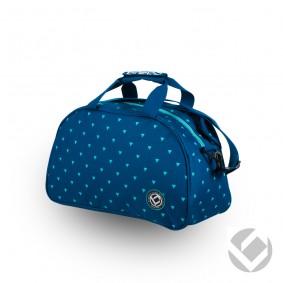 Hockey Taschen - Schultertaschen -  kopen - Brabo Schultertasche Triangles Blau/Aqua