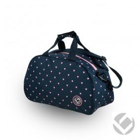 Hockey Taschen - Schultertaschen -  kopen - Brabo Schultertasche Triangles Pink/Navy