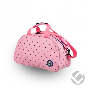 Hockey Taschen - Schultertaschen -  kopen - Brabo Schultertasche Triangles Navy/Pink