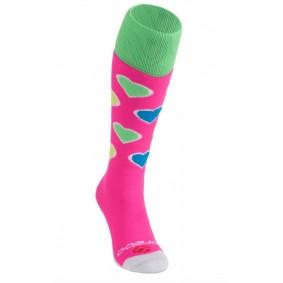 Hockeysocken - Hockey Kleidung -  kopen - Brabo Socken Harts – Pink/Lime