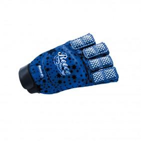 Schutz - Hockeyhandschuhe -  kopen - Reece Elite Fashion Handschuh halb Finger Blau SR