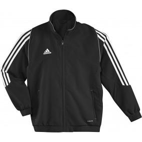 Hockey Kleidung - Hockey Trainingsjacken - Hockeyschläger Outlet - kopen - Adidas T12 Jacke Jugend Schwarz (AKTION)