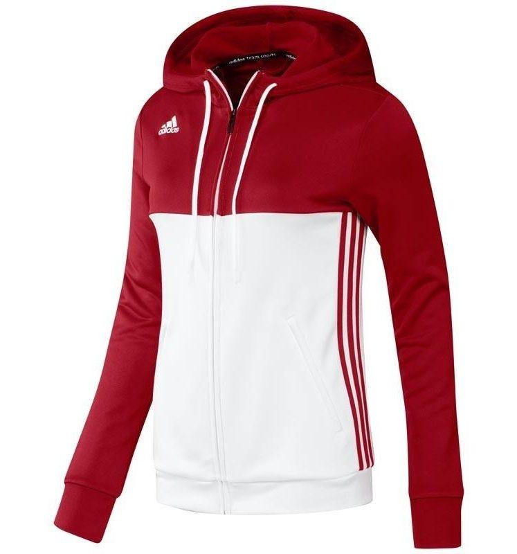 Adidas T16 Hoody Frauen Rot DISCOUNT DEALS